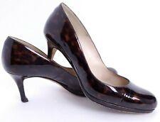 LK Bennett Size 37 US 6.5 Patent Leather Brown Tortoise Pumps Heels Shoes S34