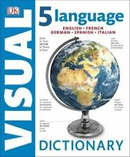 5 Language Visual Dictionary English, Spanish, French, German, Italian Brand New