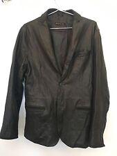 John Varvatos Star USA Two Button Leather Lambskin Jacket coat M Linen