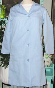"""Best Medical Woman L/S Button Lab Coat 3 Pocket 38"""" Length Light Blue Sz S to XL"""