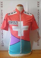 Maillot Ciclismo Seleccion SUIZA 90s Epson Gonso Shirt Trikot Maglia