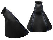 Para OPEL VECTRA B 96-02 Fuelle Palanca de Cambio y Freno - Costura Azul Claro
