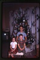 1968 Kodachrome photo slide  Young kids Christmas  toys
