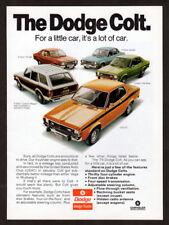 1974 DODGE Colt Vintage Original Print AD 2-door coupe Custon Wagon GT Hardtop