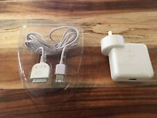 Apple iPod charger 12V white  Model A1070 and FireWire 400 sync cable