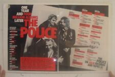 Police Poster Trade Ad One Year 4 Million Albums Later Awards Platinum