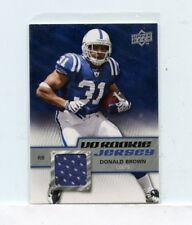 DONALD BROWN 2009 Upper Deck UD Rookie Jerseys #RJ-DB Indianapolis Colts