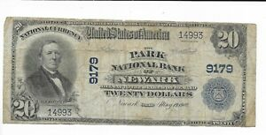 $20 1902 National Currency Park National Bank Newark Ohio Charter #9179 FR. 652