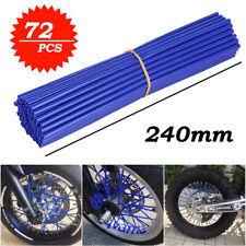 72PC Universal Wheel Spoke Wraps Motorcycle Cover Pipe Skins For Kawasaki Suzuki