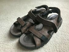 Dunham Ruggards Brown Leather Adj Sport Sandals Men's US 12D Medium EUC