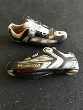 SPECIALIZED BG BODY GEOMETRY ROAD BIKE CYCLING SHOES Men 42.5/US9.5 Silver Black