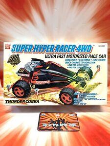 VINTAGE 1989 BAN DAI SUPER HYPER RACER THUNDER COBRA ~ MOTORIZED MODEL KIT