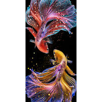 5D DIY Diamond Painting Colorful Fish Full Round Drill Embroidery Home Art R1BO