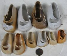 5 Pair Vintage 1940's-50's Dolls Shoes Rubber Fairyland Toy