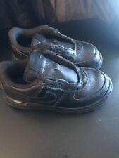 Nike Air Force 1 Low All Triple Black Boys Sz9c 315122-001 No Laces