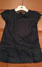 Gymboree girls holiday shine navy blue dress size 3-6 mos. nwt