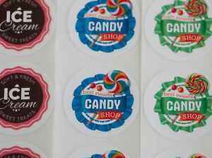 520 Personalised BRAND LOGO Round Stickers Logo Labels Full Colour 30mm PR25