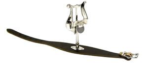 Windcraft Flute Lyre - Wrist Type, Leather Nickel Plated