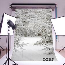 Winter Snow Vinyl Studio Backdrop Photography Prop Photo Background 3X5FT DZ85