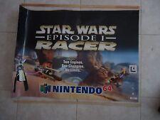 Star Wars Episode 1 I Racer Nintendo 64 N64 Store Display Promotional Banner