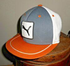 PUMA GOLF One ten Flexfit gray/orange/white snapback golf cap hat EUC