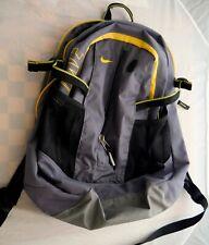Nike Medium Size Backpack Laptop Grey Yellow