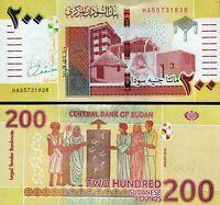 Sudan 200 Pounds 2019 (2020), UNC, P-NEW DESIGN, Prefix HA