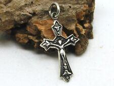 Kleines Kreuz 925 Silber Anhänger Kette  Halskette Kruzifix
