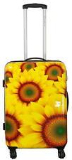 Carbon Reisekoffer Hartschalenkoffer Trolley Sunflower Gr.L 64cm 64L