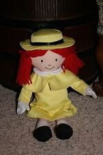 "Htf 16"" Talking Madeline Plush Doll Speaks English and French Euc 70th Ann. #V2"