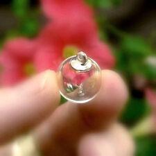 5 GLASS BALLS Pendants simple caps (tops/lids/mini/small/vials/bottles/globes)