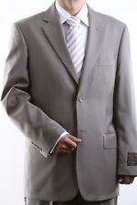 MENS 2 BUTTON SUPER 150S EXTRA FINE LIGHT TAN DRESS SUIT 38R, PL-60512N-LTA