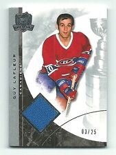 Guy Lafleur 2008-09 UD The Cup Hockey Game-Used Patch Card 03/25