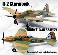 Russia Il-2 Sturmovik aircraft white 1 Ivan Pavlov 1/72 plane finish Easy model