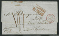1846 Stampless to France, New York Forwarding, & 5 Other Postal Markings