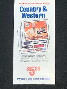 Country & Western(Twenty)Stamps .29 Cent Stamp Book Legends of American Music