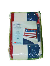 Red White And Blue Flag Pillow Sham 20 X 26 Inches