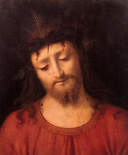 Oil painting Andrea Solari - Ecce Homo Christ Jesus torture canvas
