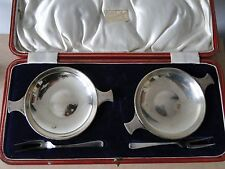 PAIR OF QUAICH  WINE TESTER STERLING SILVER, SHEFFIELD 1925. GREAT QUALITY
