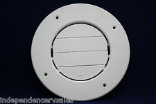 RV Round AC Ceiling Vent - Fully Adjustable - White