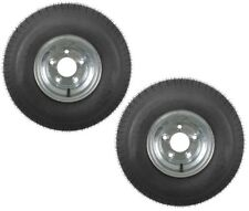 2-Pack Trailer Tires On Galvanized Rims 18.5-8.5-8 215/60-8 Load C 5 Lug
