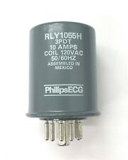 NEW Philips ECG RLY1055H 120 Volt AC Coil, 3PDT 11 Pin Hermetically Sealed Relay