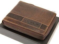 Rowallan Gents Mens Zip ROUND verdure abbronzata Buffalo Leather Wallet-Brown 6738