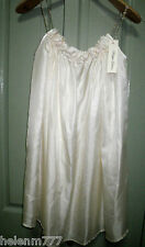 Designer Philippa Galasso Ivory 100% Silk Floral Shoestring Free Flowing Dress