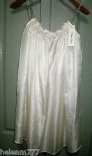 Designer Philippa Galasso Ivory 100% Silk Floral Shoestring Free Flowing Dress