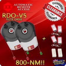 2 X Automatic Garage Roller Door Opener Motors ARA RDO-V5 and 6 x Remotes