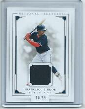 2016 National Treasures BB #114 Francisco Lindor Indians JERSEY RELIC #/99