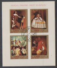 Ajman - 1967, Famous Paintings by Velazquez sheet - CTO