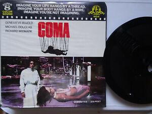 "Super 8mm color sound 1x400'' ""COMA"" Michael Douglas Original Box"