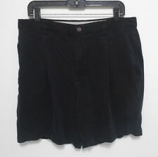 TOMMY BAHAMA 100% SILK Shorts - Men's Size 36 - Relax Fit Casual Pleated Black